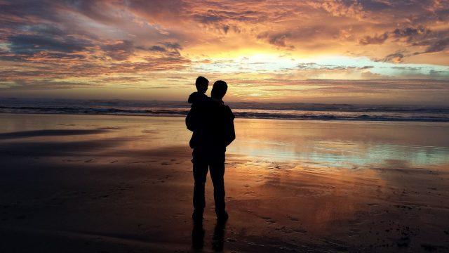 海の夕日02